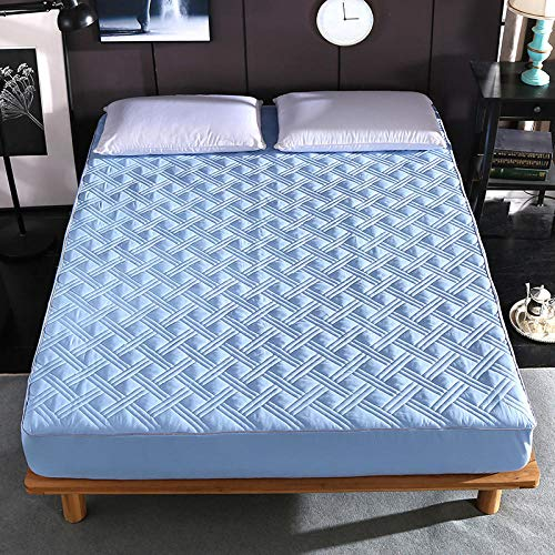 GTWOZNB Snugly Around Your Mattress Hypoallergenic, Breathable Bed Sheets Are Oh-So-Soft Thickened anti-skid bedspread single piece-blue_2*2.2m