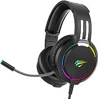 Auriculares Gaming para PS4 HAVIT Iluminación RGB Cascos Gaming Sonido Envolvente, Controlador de 50MM y micrófono con...