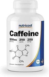 Nutricost Caffeine Pills, 200mg Per Serving (250 Caps)