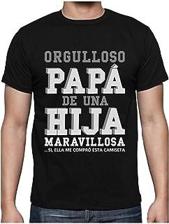 Green Turtle T-Shirts, Camiseta para Hombre - Regalos para Hombre, Regalos para Padres. Camisetas Hombre Originales y Divertidas - Orgulloso Papá de una Hija Maravillosa