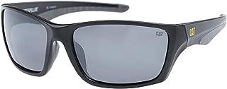 Men's Rigger 104P Polarized Wrap Sunglasses, Matte Black,...