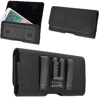 DFV mobile - New Design Case Metal Belt Clip Horizontal Textile and Leather with Card Holder for InnJoo 4 - Black