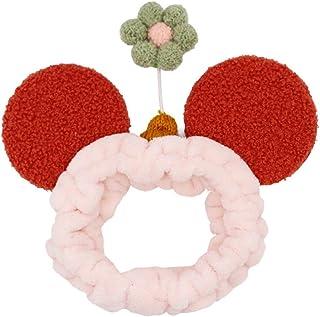 Morninganswer Bandeau pour laver le visage - Jolie ceinture de germination - Motif de petites fleurs - Pour femme