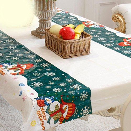 Tovaglia di tabella natalizia Rettangolare in vetro gonfiabile della Tabella della tovaglia della tavola del corridore Natale Decorazione domestica del partito 110x180cm