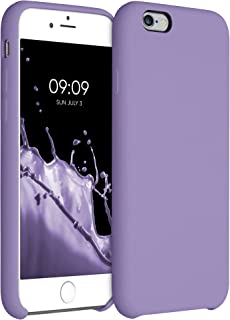 kwmobile telefoonhoesje compatibel met Apple iPhone 6 / 6S - Hoesje met siliconen coating - Smartphone case in violet lila