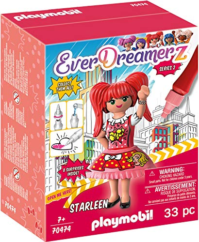 PLAYMOBIL- EverDreamerz 70474 Starleen - Comic World, Mit PLAYMOBIL-Wasserstift, Ab 7 Jahren