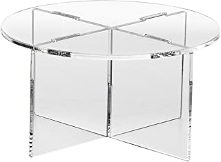 Clear Choice, Acrylic Round disassemble Riser Display Stand   Multipurpose Tabletop Risers for Displaying Personal or Business Decor, Cupcakes   Clear, Stable (3'' HIGH X 3 Diameter)