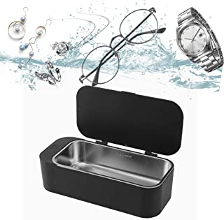 Professional Ultrasonic Jewelry Cleaner,42kHz Ultrasonic Cleaner,Personal Portable Eyeglass Cleaning with 3 Minutes,Stainl...