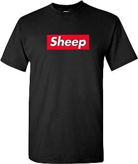 Sheep Box Logo - Funny Parody Trendy Ironic Urban Streetwear Novelty T Shirt