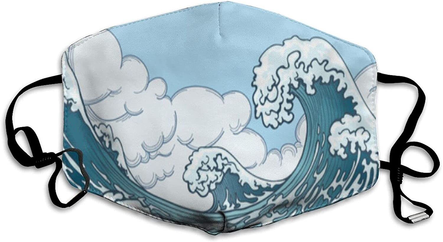 COVASA Reusable Face Max 40% OFF Mask Ocean Big Japanese Style In Limited price sale Wave Water
