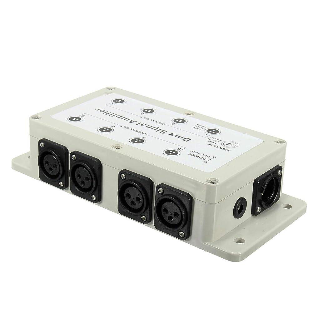 眉をひそめるシングルピグマリオンMoligh doll Dc12-24V 8チャンネル出力Dmx Dmx512 LEDコントローラ信号アンプスプリッタ分配器家庭用機器