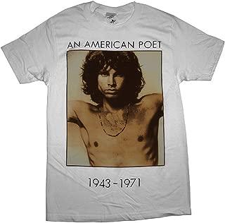 Doors Jim Morrison American Poet Men's White T-Shirt