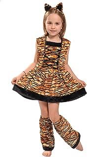 Halloween Girl's Tigress Cute Tiger Costume Dress