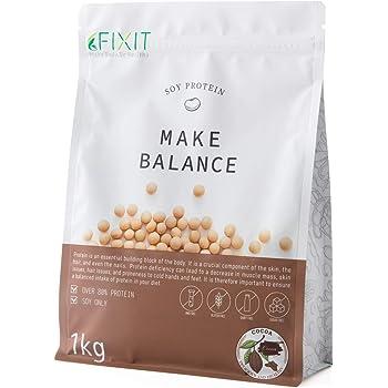 FIXIT プロテイン ソイプロテイン MAKE BALANCE 1kg 【ココア】たんぱく質含有量80%以上