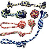 Otterly Pets Small Puppy Dog Rope Toys for Play Chew Teething and Boredom - for Smaller Dogs (6-Pack)