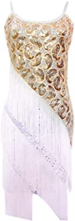 whitewed Paisley Art Deco Fringe 20's Style Sequin Shift Party Dress White/Gold