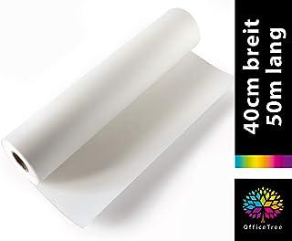 OfficeTree 50 m Rollo de Papel para dibujo 40 cm ancho - 50