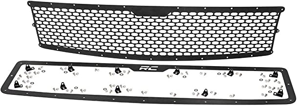 Rough Country Custom Mesh Grille Compatible w/ 2007-2013 Chevy Silverado 1500 Black Powdercoat Stainless Hardware 70194