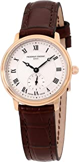 Frederique Constant Slimline Silver Dial Leather Strap Ladies Watch FC-235M1S4