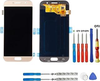 SWARK Super AMOLED Display Compatible con Samsung Galaxy A5 2017 duos A520 a520f a520k a520l a520s Display LCD Pantalla tactil + Herramientas (Oro)