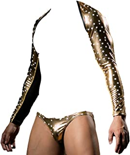 Top Totty Star Print Sexy Men Erotic Saucy Role Play Dominatrix Top and G-String Set