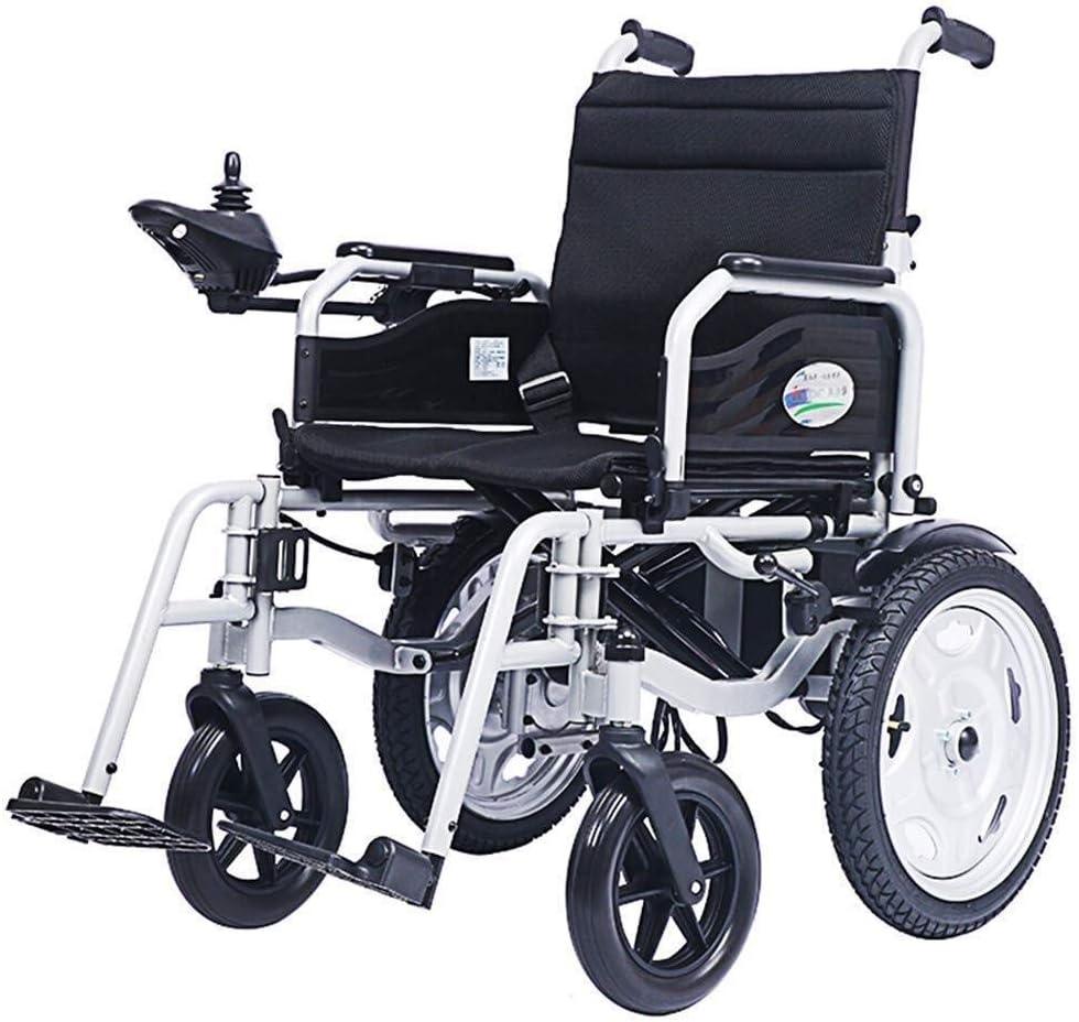 LHQ-HQ Silla médica de rehabilitación, sillas de ruedas, sillas de ruedas eléctricas eléctrica inteligente, ligero plegable, soporta 100Kg, Sillas de ruedas motorizada Conveniente Compatible with el h