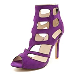 2781279c0eb Women s Zipper Peep Toe Stiletto High Heel Ankle B - Casual Women s ...