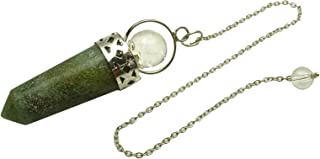 Harmonize Vert Jade Bullet Pendule Radiesthésie Débutant générateur d'énergie Reiki Cristal