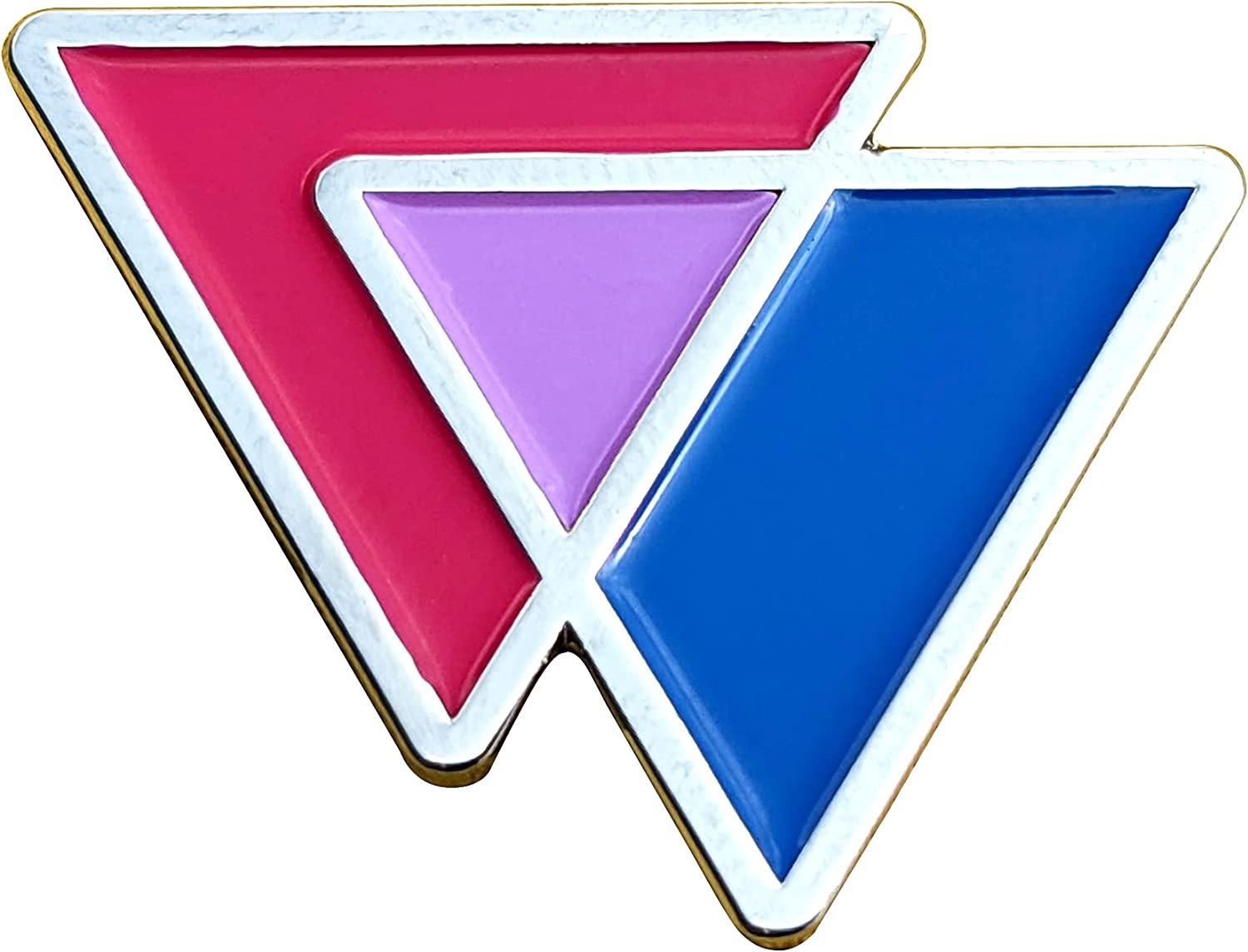 Applicable Pun Bisexual Triangles Biangles Pink Lavender Blue Enamel Pin