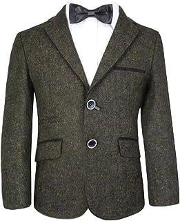 003b06156add SIRRI Boys Tweed Blazer Kids Jacket for Wedding Prom and All Special Events