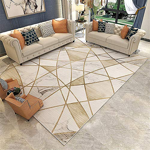 Xiaosua Muebles Sala de Estar Gris Alfombra de mármol geométrica de la Sala de Estar de la...