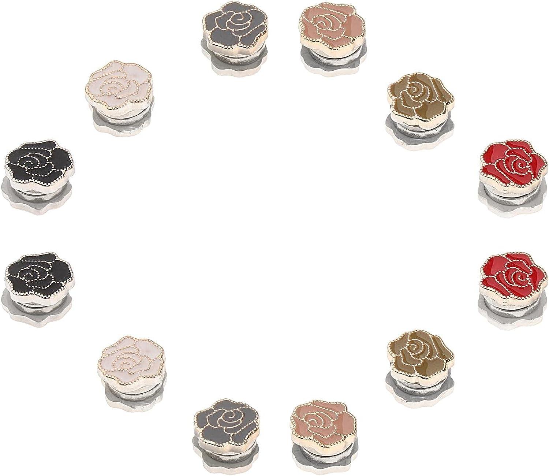 menolana 12 Pieces Fashion Women Brooches Pin Assortments Muslim Headwear Decoration Party Jewellery