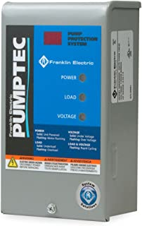 FRANKLIN ELECTRIC Pumptec water pump protection 1/3 HP to 1.5 HP 230/115V LOW YIELD WELLS