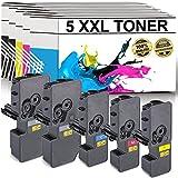 LABT Premium 5er Set Toner KY-5240 KIT Ersatz für Kyocera Ecosys M5526cdn, M5526cdw, P5026cdn, P5026cdw - mit Füllstandsanzeige