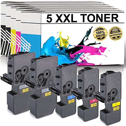LABT Premium 5er Set Toner TK-5230 als Ersatz für Kyocera Ecosys M5521cdn, M5521cdw, P5021cdn, P5021cdw - mit Füllstandsanzeige | 40{33a59d719816958b33d89bd3c8073d2b3dec2d8dacf9d108067c1dd291dd2628} Höhere Druckleistung als TK-5220