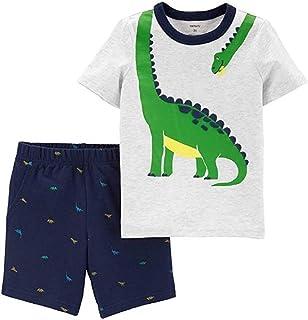 Carter's Baby Boys 2-Piece Dinosaur Tee & Schiffli Shorts Set, Newborn