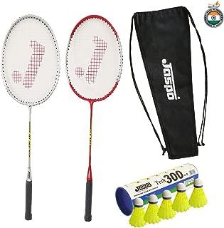Jaspo GT 303 Intact Red/Sliver Badminton Set(2 Badminton Racke, Nylon Shuttle Cork,Carry Bag)