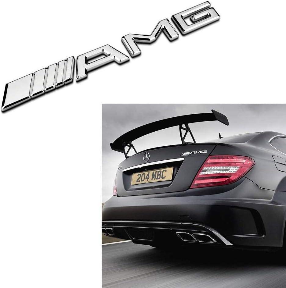 L U 1pc 3d Metall Amg Auto Seite Fender Rear Trunk Emblem Abzeichen Abziehbilder Für Mercedes Benz Amg Silber Küche Haushalt