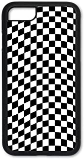 iPhone 7 Plus Case, iPhone 8 Plus Case, Slim Fit Shell Hard Plastic Full Protective Cover Case for Apple iPhone 7 Plus/iPhone 8 Plus - Checkered Flag