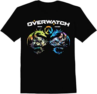 Slicksleek Apparel Overwatch Hanzo and Gengi Dragon Art Graphic T-Shirt