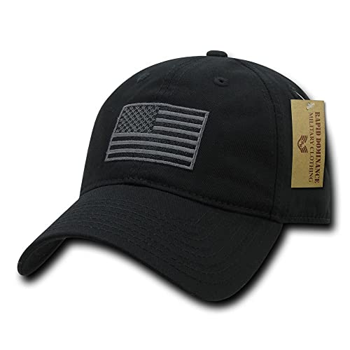 17b1187f2b1 Rapid Dominance American Flag Embroidered Washed Cotton Baseball Cap