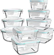 Glass Food Storage Containers with Lids, [18 Piece] Glass Meal Prep Containers, Glass Containers for Food Storage with Lid...