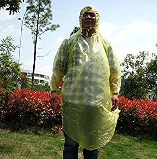 Disposable raincoat poncho pullover with neck rope cuff ( thickened ) 10 pieces/bag at 9026