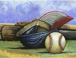5D DIY diamond painting set Full Drill Baseball Kit Cross Stitch Mosaic Baseball Bat and Glove hat Art-40X50CM