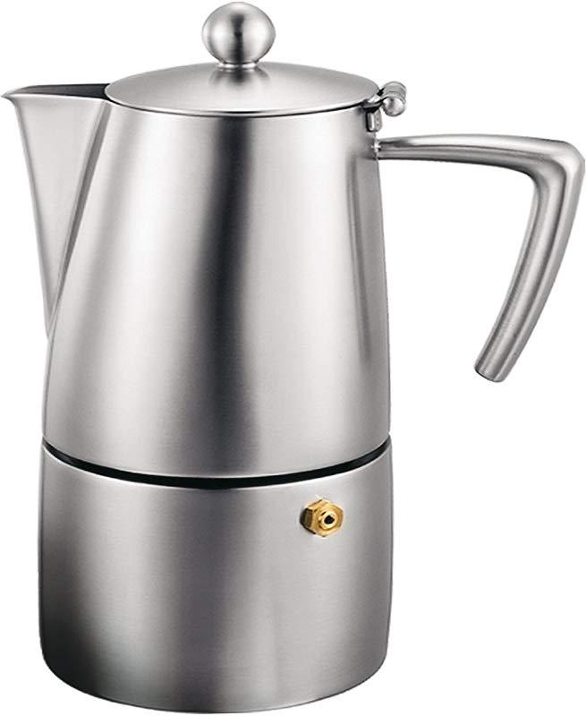 Cuisinox Stainless Steel Milano 10 Cup Espresso Coffeemaker