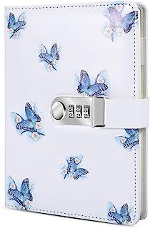 ژورنال رمزعبور رمزعبور A5 دارای قفل ، دفترچه یادداشت چرمی PU با قفل ترکیبی دفترچه یادداشت قفل دفترچه یادداشت (سبک 1)