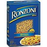 Ronzoni Rings Enriched Macaroni Non GMO 16 Oz. Pack Of 3.