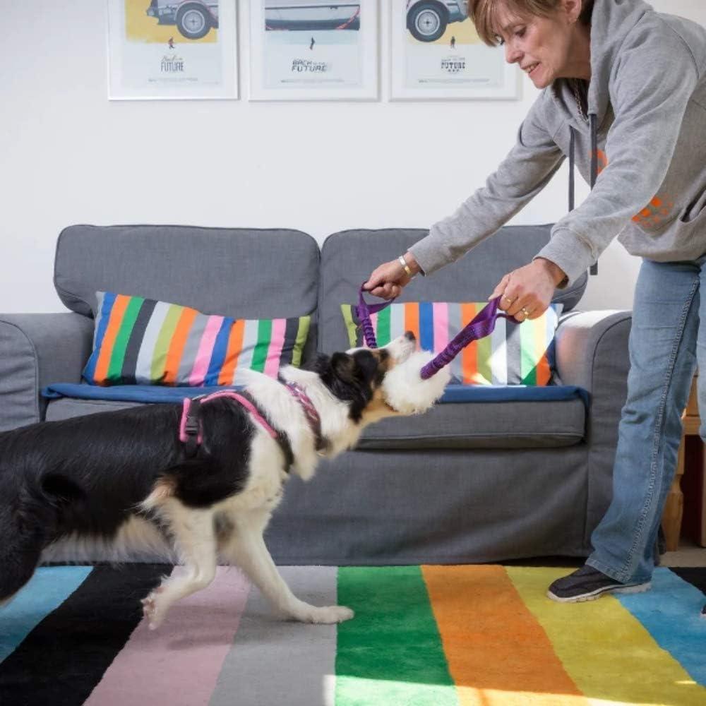 Double Handled Sheepskin Bungee Tug-E-Nuff Dog Gear