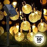 ZWOOS Catena Luminosa Solare, 7m 50 LED Luci Solari Esterno con 8 Modalità, Catene Lumino...