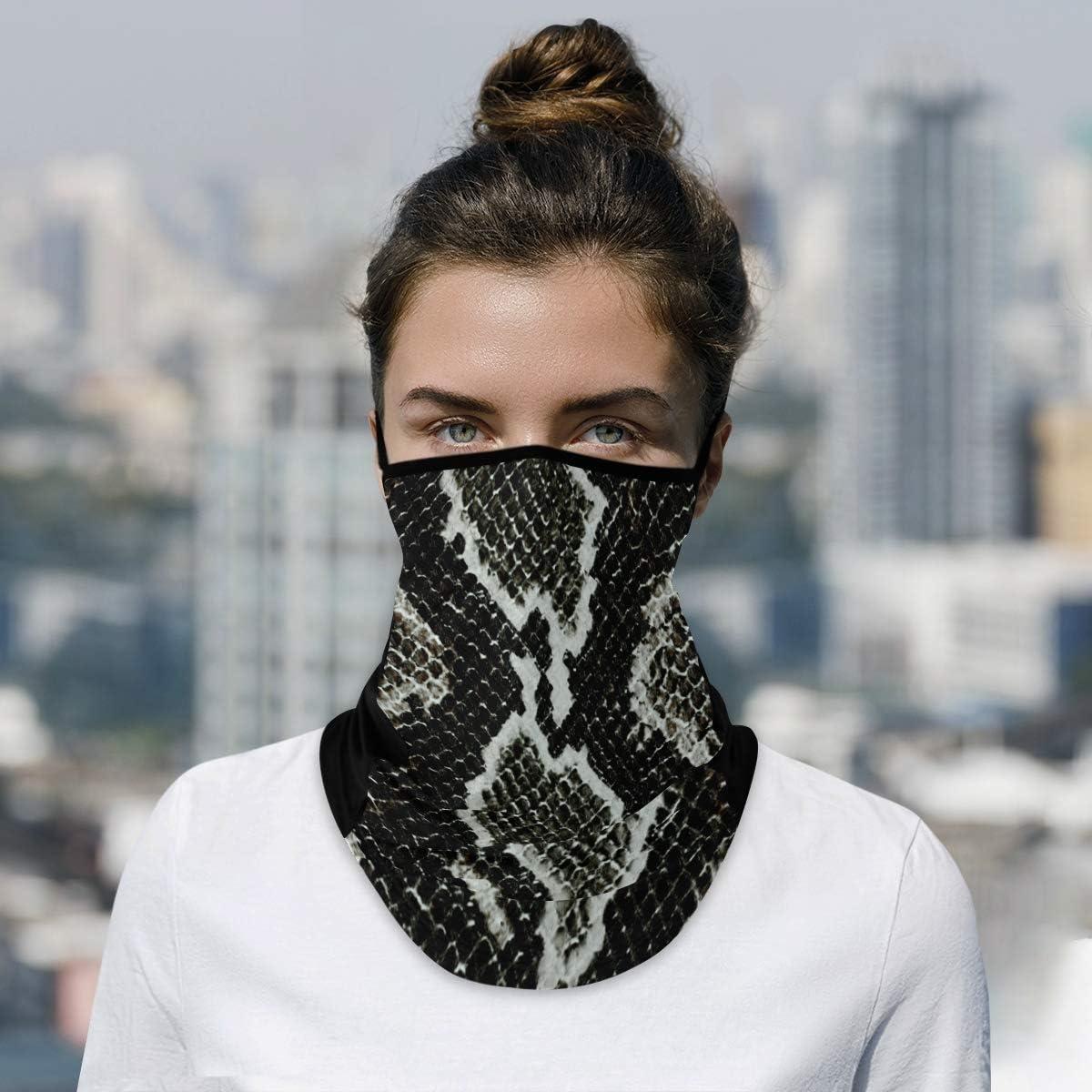 DAOXIANG Snake Skin Textures Neck Ranking TOP19 Mask Reusable Gaiter Face Clo Long Beach Mall